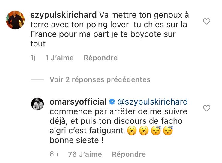 L'échange tendu entre un internaute et Omar Sy sur Instagram - juin 2021