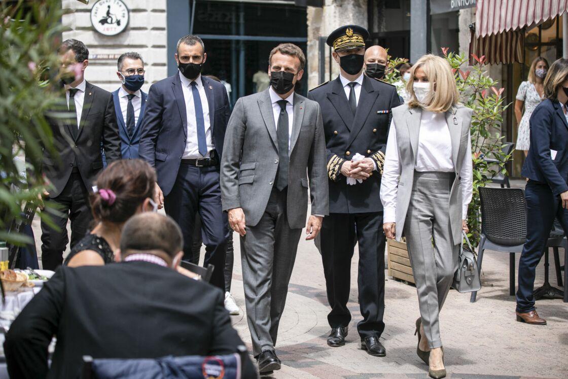 Emmanuel et Brigitte Macron le 8 juin à Valence.