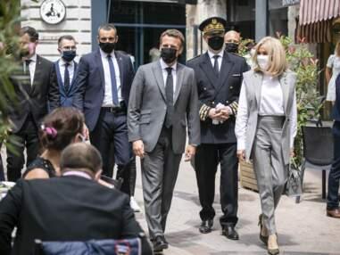 PHOTOS - Brigitte Macron  en veste sans manche tendance été 2021