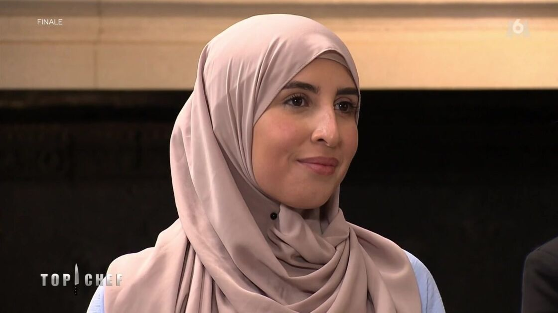 Sofia, l'épouse de Mohamed Cheikh, lors de la finale de Top Chef, diffusée ce mercredi 9 juin sur M6.