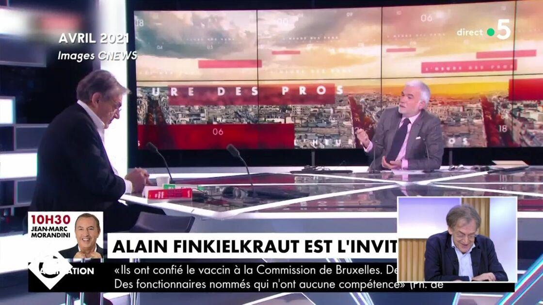 Alain Finkielkraut dans L'Heure des Pros, le mercredi 14 avril 2021.