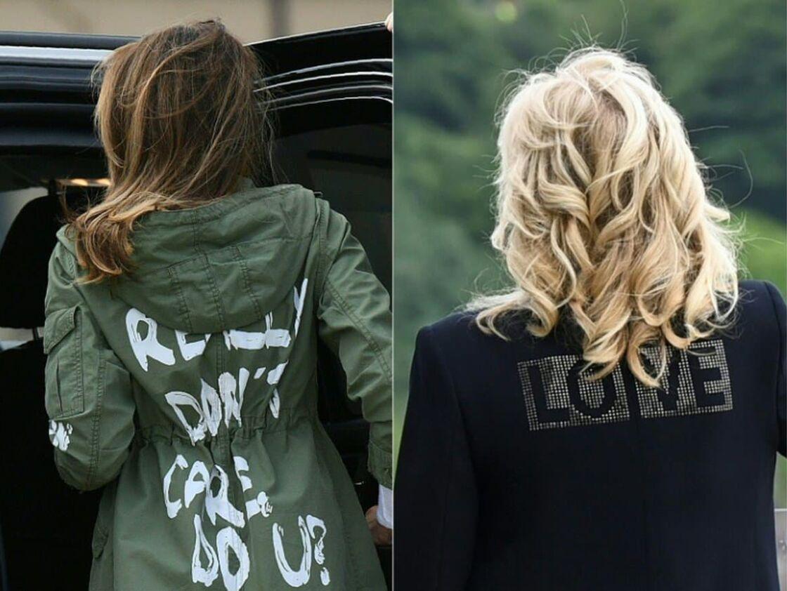 La comparaison entre les deux vestes de l'ancienne et de la nouvelle First Lady.