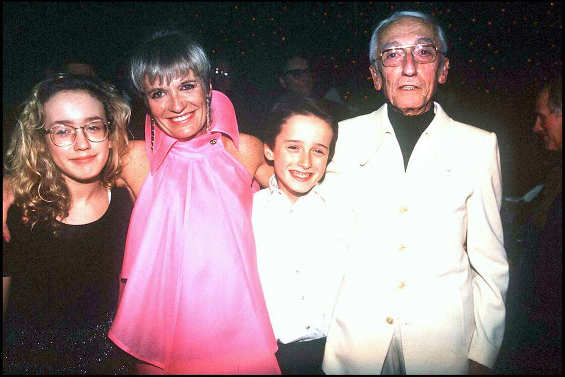 Jacques-Yves Cousteau, sa femme Francine, et leurs enfants Diane et Pierre-Yves