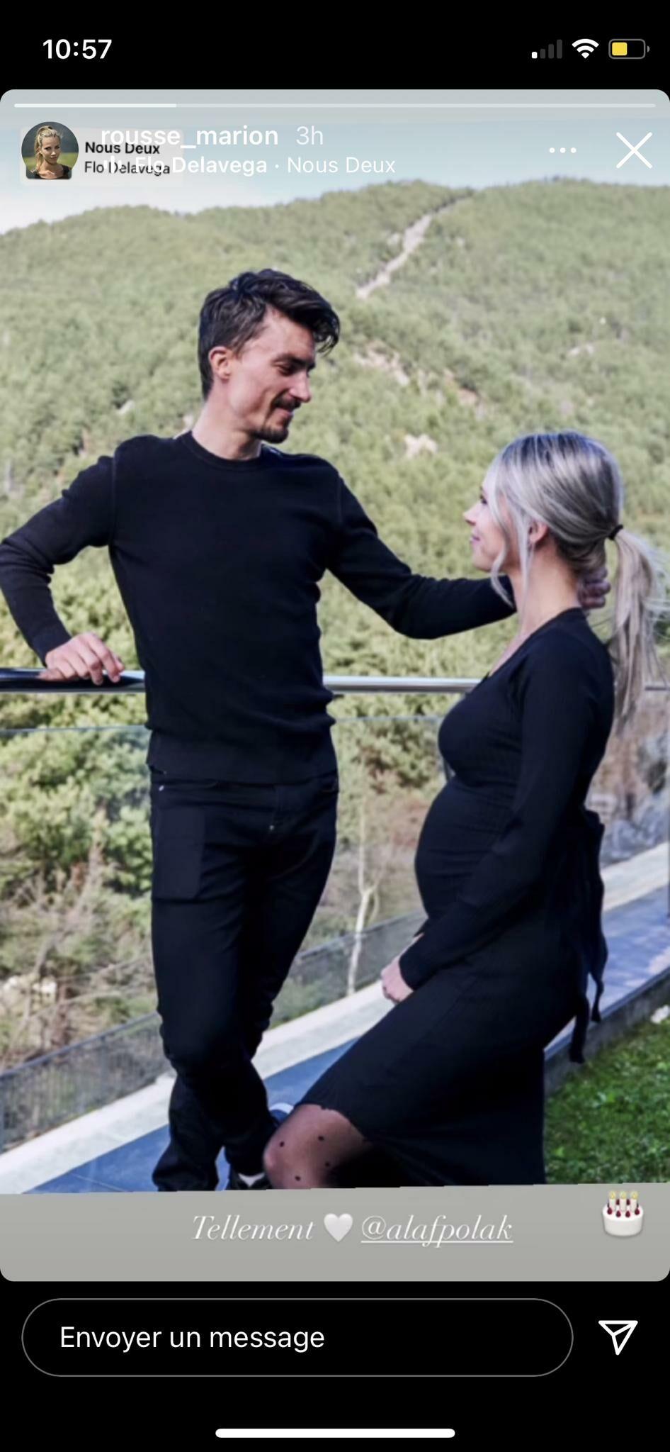 Story de Marion Rousse et Julian Alaphilippe