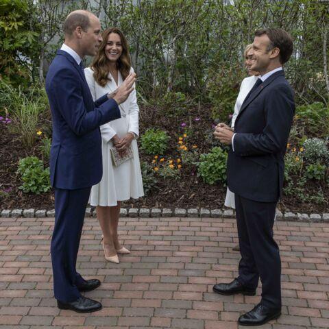 PHOTOS – Emmanuel et Brigitte Macron rencontrent les Windsor au G7: un moment historique!