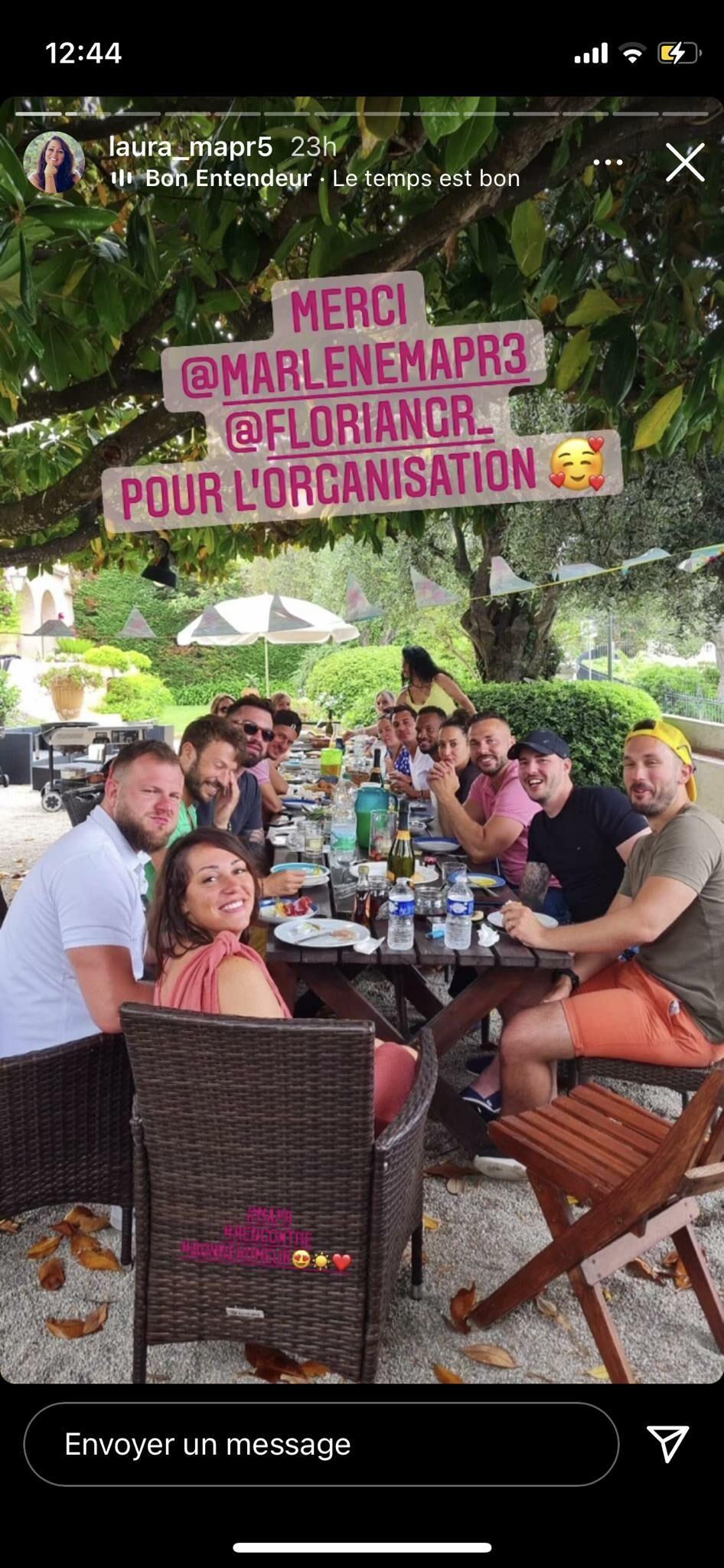 Laura (MAPR 5) partage une photo de son week-end dans le sud de la France, en compagnie d'autres candidats