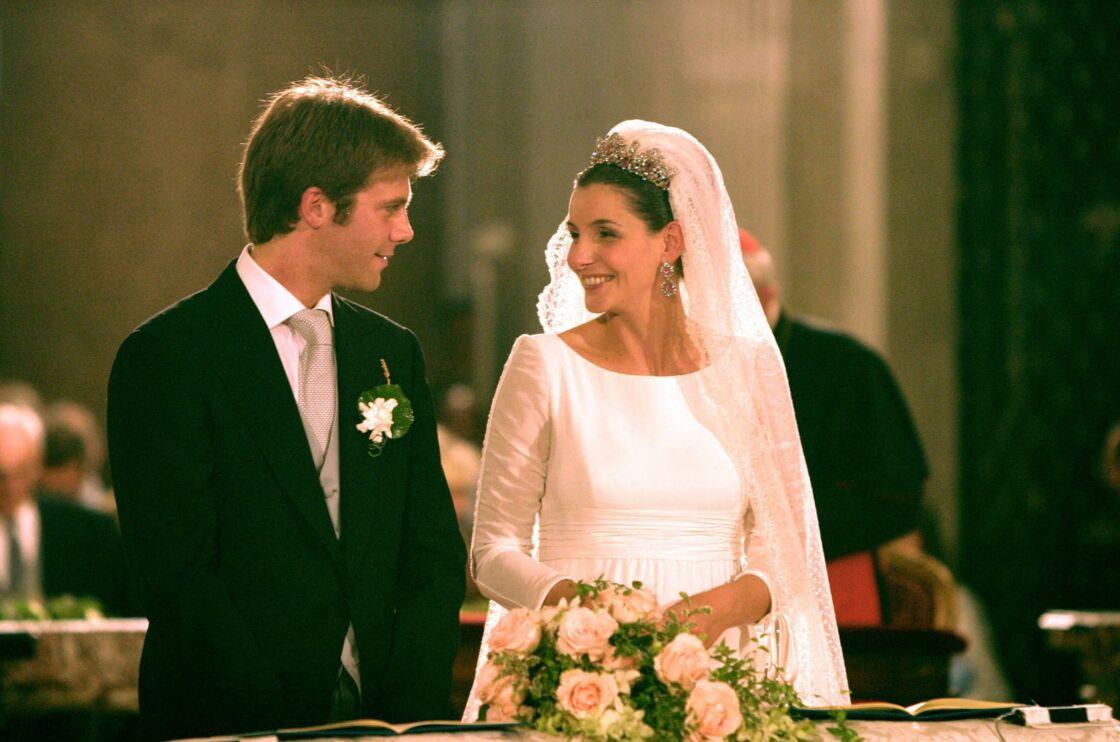 Mariage d'Emmanuel-Philibert de Savoie et Clotilde Courau à Rome en septembre 2003.