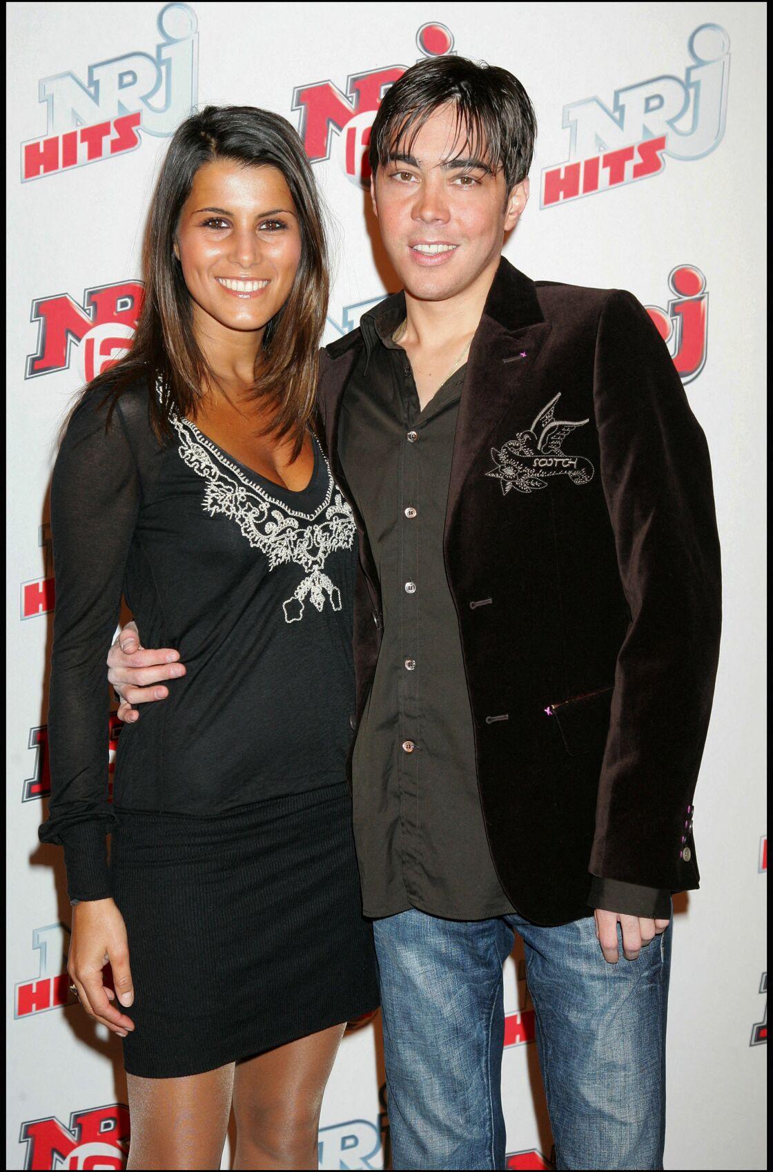 Karine Ferri et Gregory Lemarchal lors de la soirée de lancement de la chaîne NRJ 12, le 23 mars 2007.