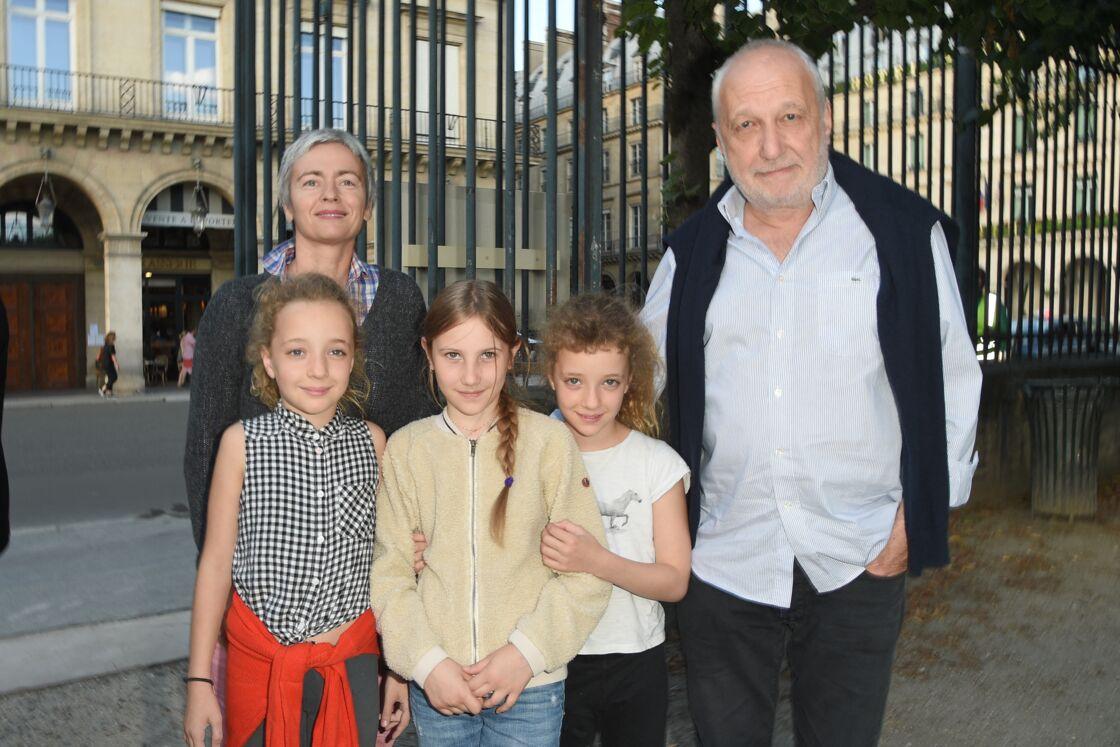 Alexia Stresi et François Berléand avec leurs filles Adèle et Lucie et une amie en juin 2018.