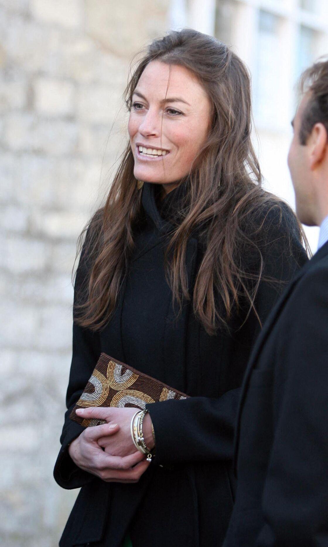 Jecca Craig, à un mariage dans la campagne anglaise, le 23 octobre 2010