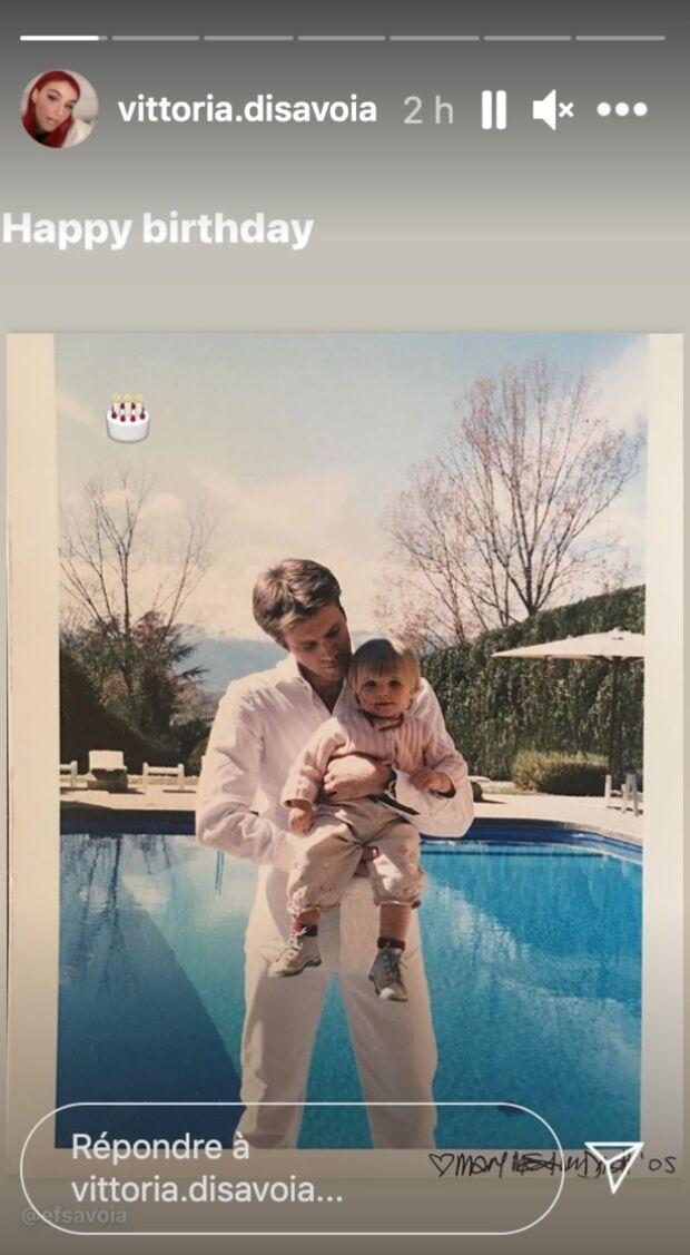 Vittoria de Savoie souhaite un bon anniversaire à son père,  Emmanuel-Philibert de Savoie, sur Instagram