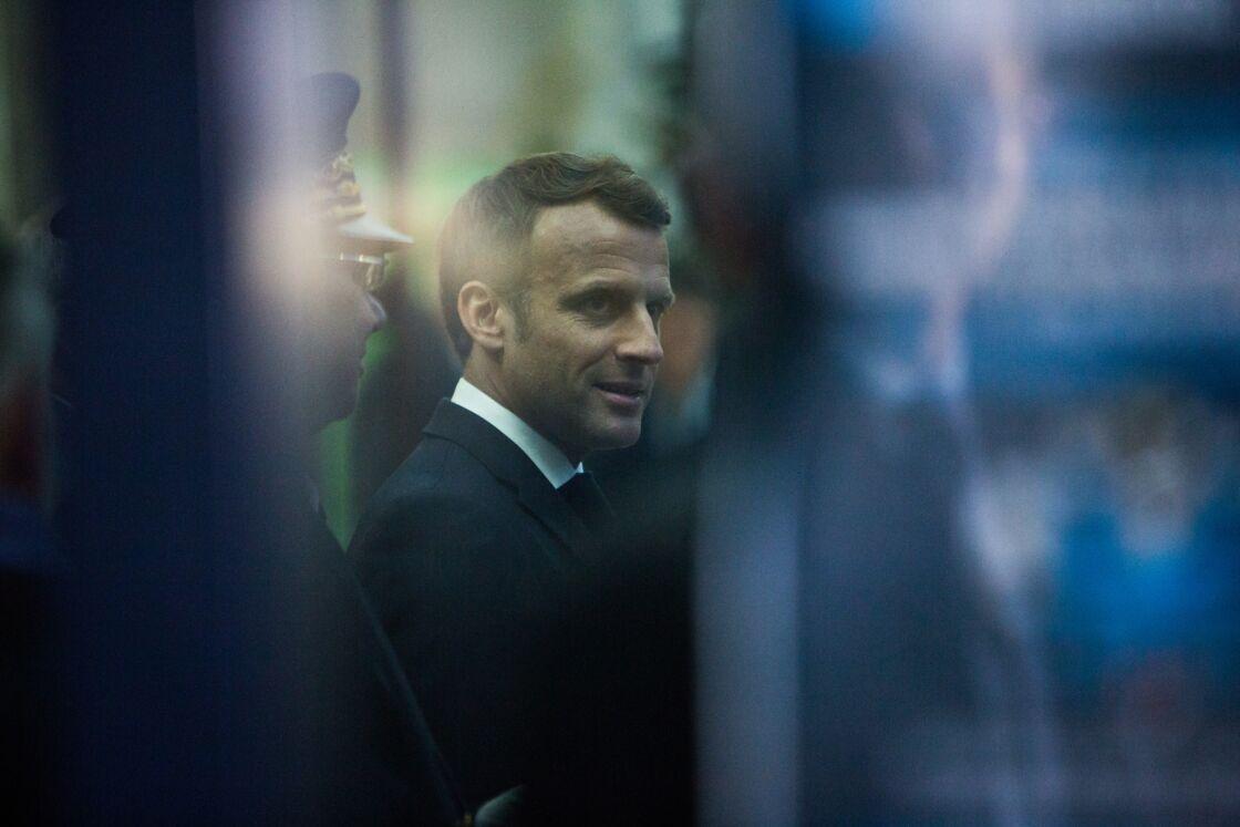 Le président Emmanuel Macron se déplace à Rouen un mois après l'incendie de l'usine Lubrizol le 30 octobre 2019.
