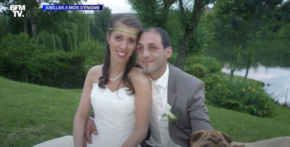 Cédric et Delphine Jubillar lors de leur mariage
