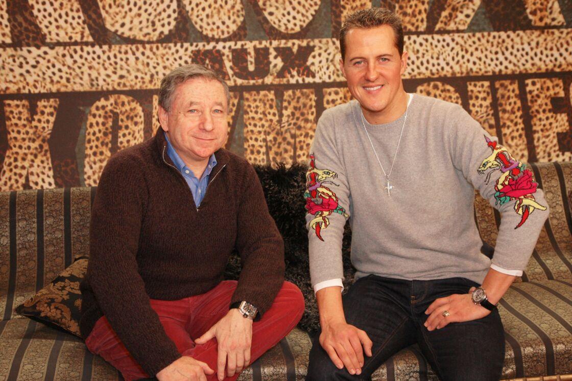 Jean Todt et Michael Schumacher en 2008.