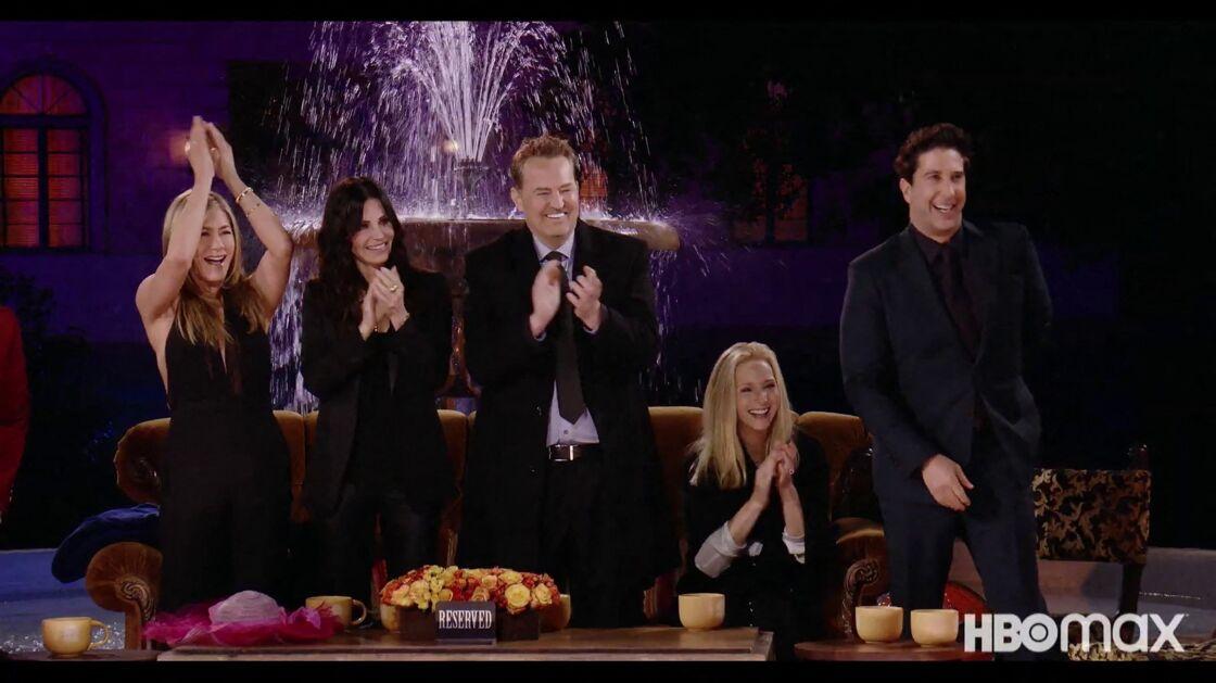 Les acteurs de la série Friends lors de leurs retrouvailles au mois de mai dernier.