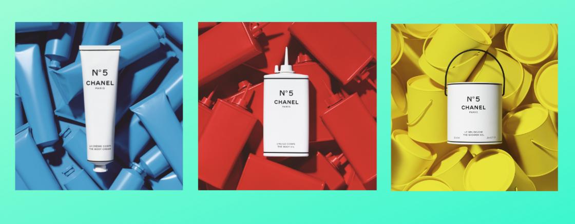 Ci dessus, trois des 17 produits de la Chanel Factory 5 lancés par la maison pour fêter l'anniversaire du Chanel 5 !