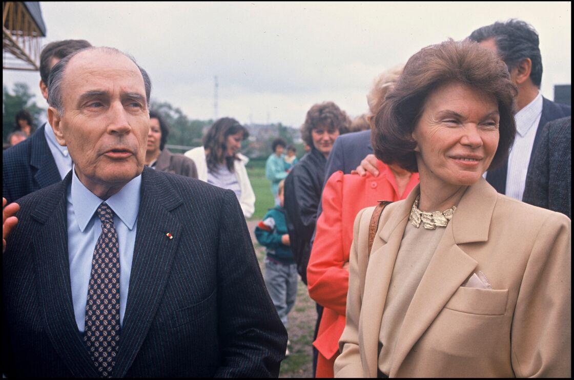 François Mitterrand et Danielle Mitterrand en 1988.