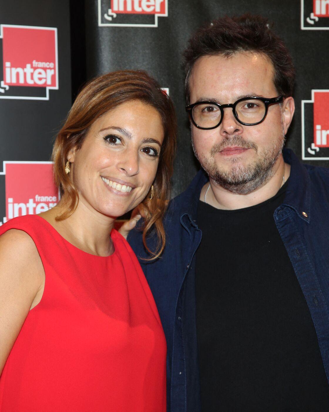 Léa Salamé et Nicolas Demorand en 2017.