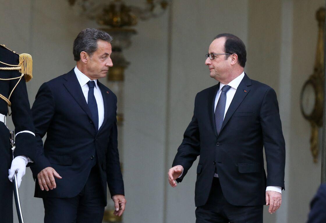 Nicolas Sarkozy et François Hollande à l'Élysée