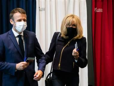 PHOTOS - Brigitte Macron opte pour un style décontracté mais stylé pour voter