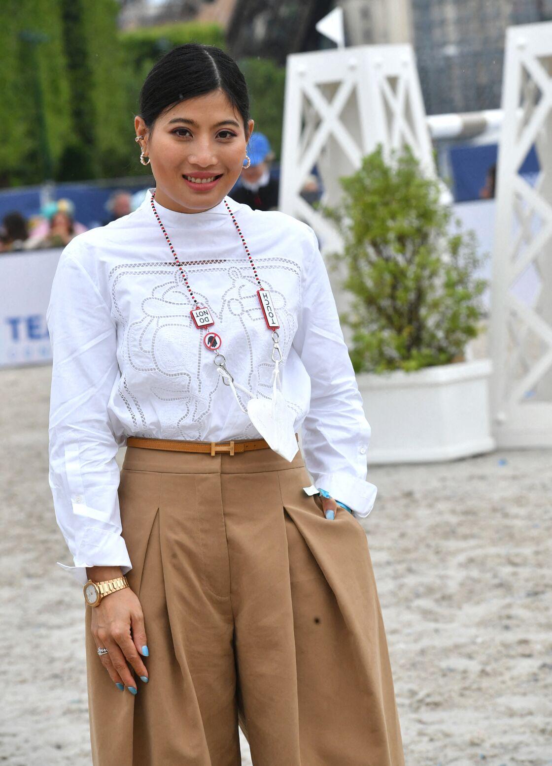 La princesse Sirivannavari de Thaïlande au Paris Eiffel Jumping, dimanche 27 juin 2021