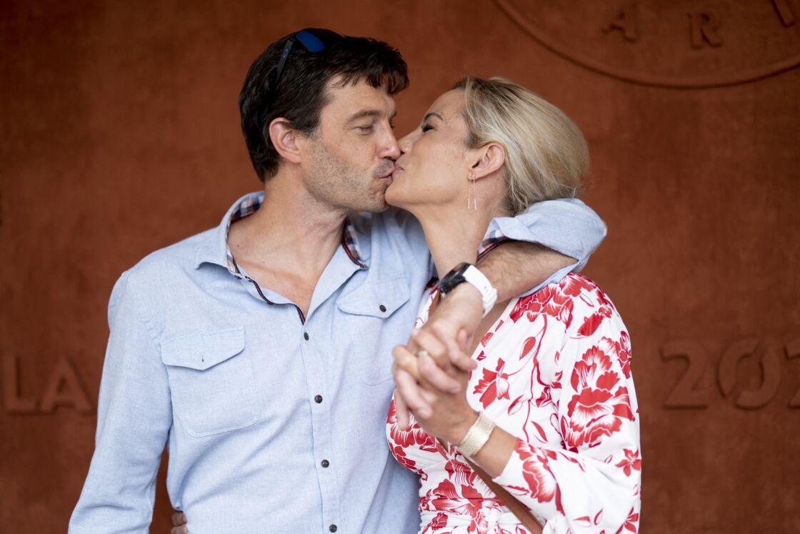 Elodie Gossuin et son mari Bertrand Lacherie en juin dernier à Roland-Garros