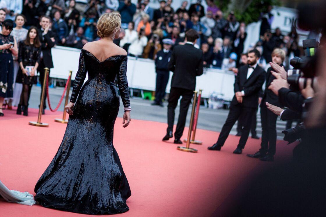 Virginie Efira en robe de soirée ultra glamour à Cannes en 2019