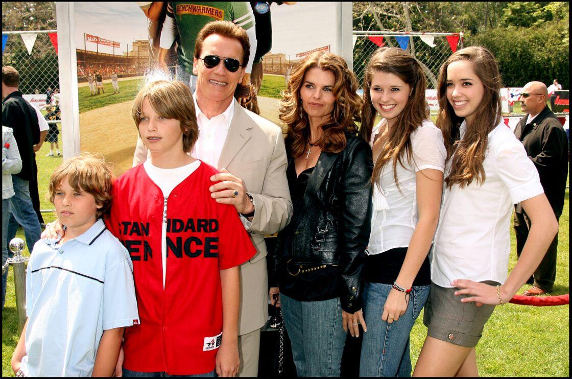 Arnold Schwarzenegger et Maria Shriver avec leurs enfants en 2006.