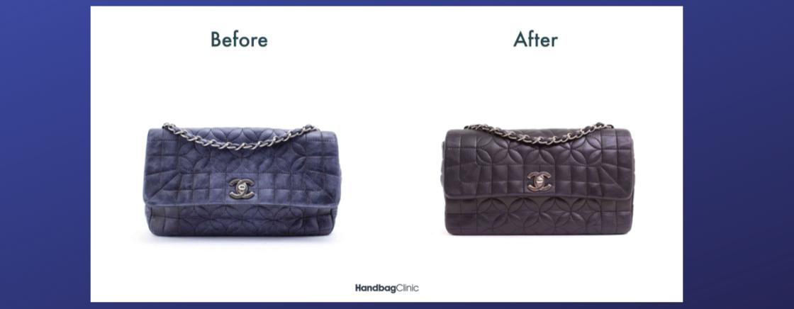 Un exemple de rénovation totale d'un sac Dior.