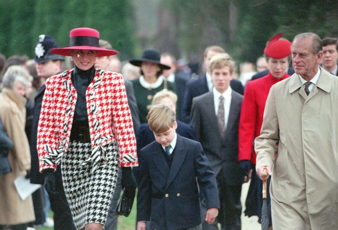 Diana et le prince Philip, en 1990