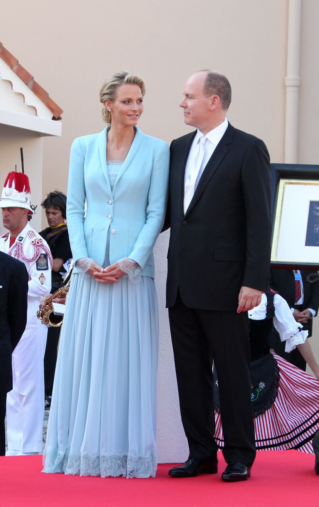 Charlene de Monaco pour son mariage civil avec le prince Albert le 1er juillet 2011