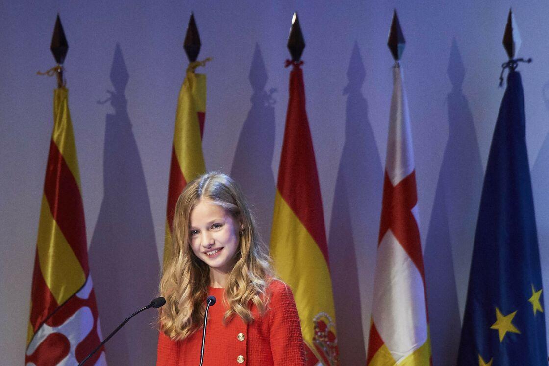 Leonor d'Espagne lors d'une cérémonie