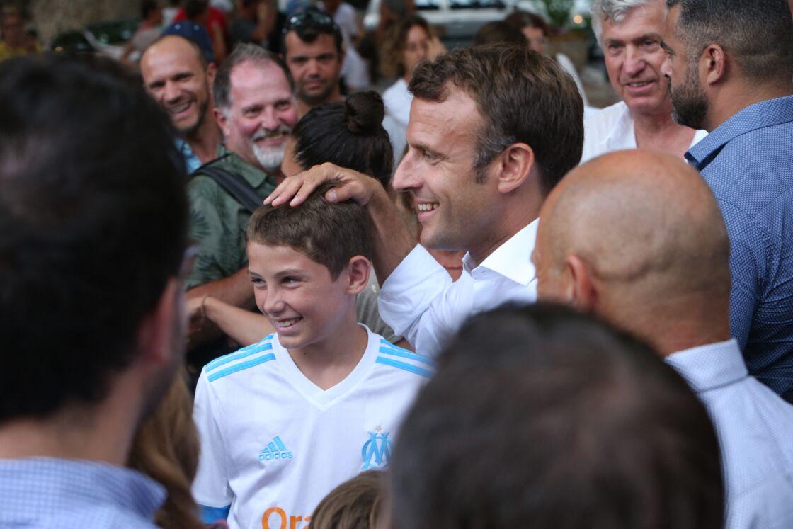 Emmanuel Macron à Bormes-les-Mimosas en juillet 2019.