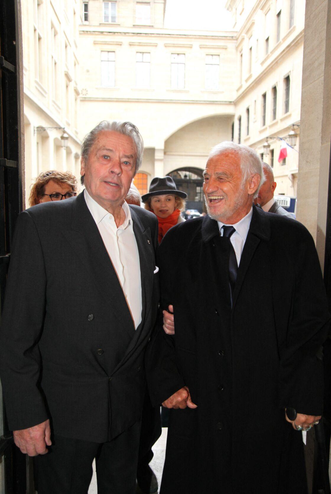Alain Delon et Jean-Paul Belmondo en novembre 2016.