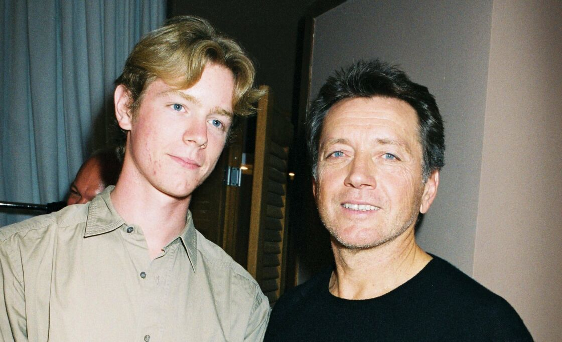 Bernard Giraudeau avec son fils Gael en 2003
