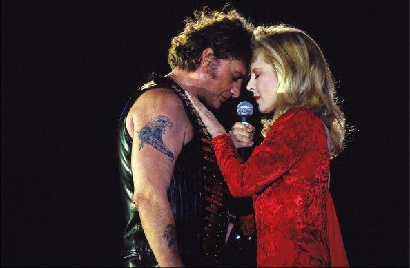 Sylvie Vartan et Johnny Hallyday en 1993
