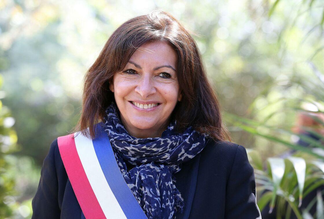 Anne Hidalgo à l'inauguration du jardin Toussaint Louverture, dans le 20ème arrondissement de Paris, le 10 mai 2021.