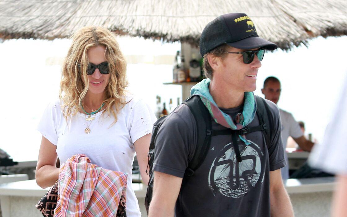 Julia Roberts passe ses vacances avec son mari Daniel Moder et ses enfants en Croatie le 24 septembre 2017