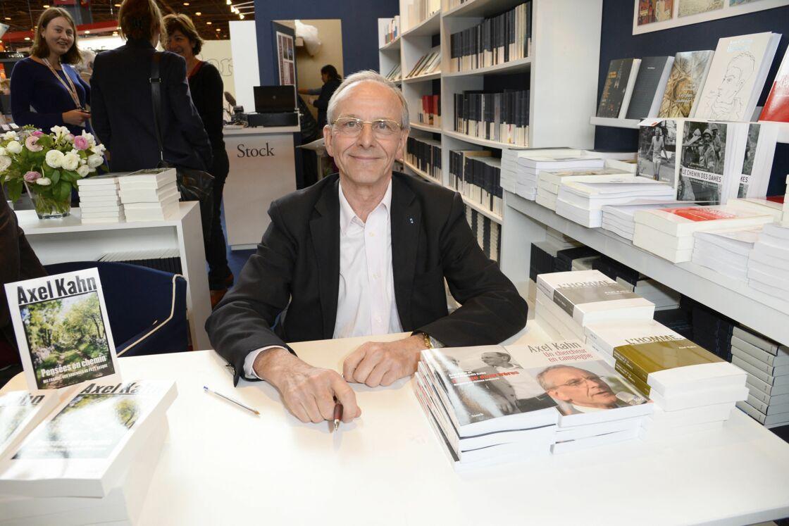 Axel Kahn à la 34 ème édition du Salon du Livre, à Paris, Porte de Versailles, le 22 mars 2014.
