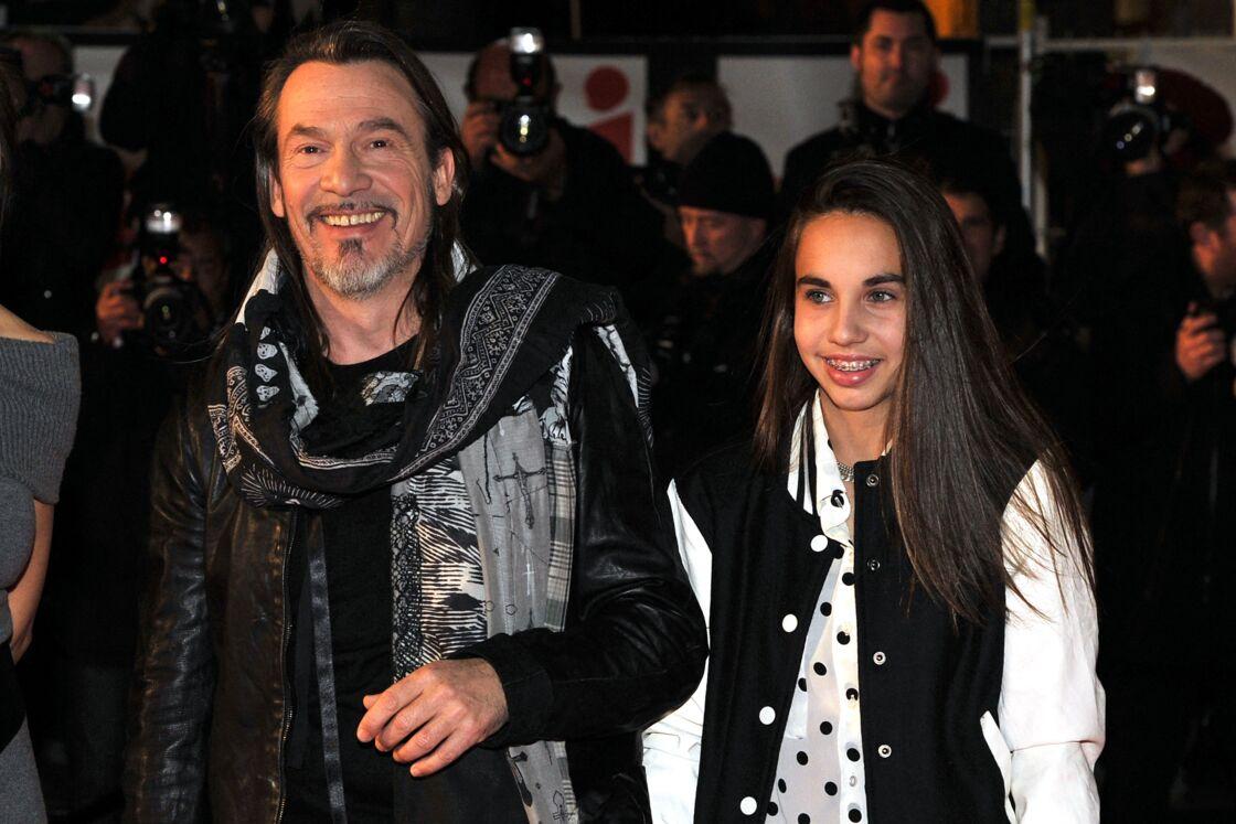 Florent Pagny et sa fille Aël assistent à la 15ème édition des NRJ Music Awards au Palais des Festivals a Cannes le 14 décembre 2013