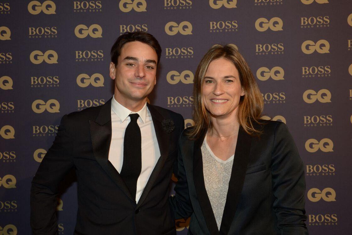 Julian Bugier et sa femme Claire Fournier, lors de la soirée