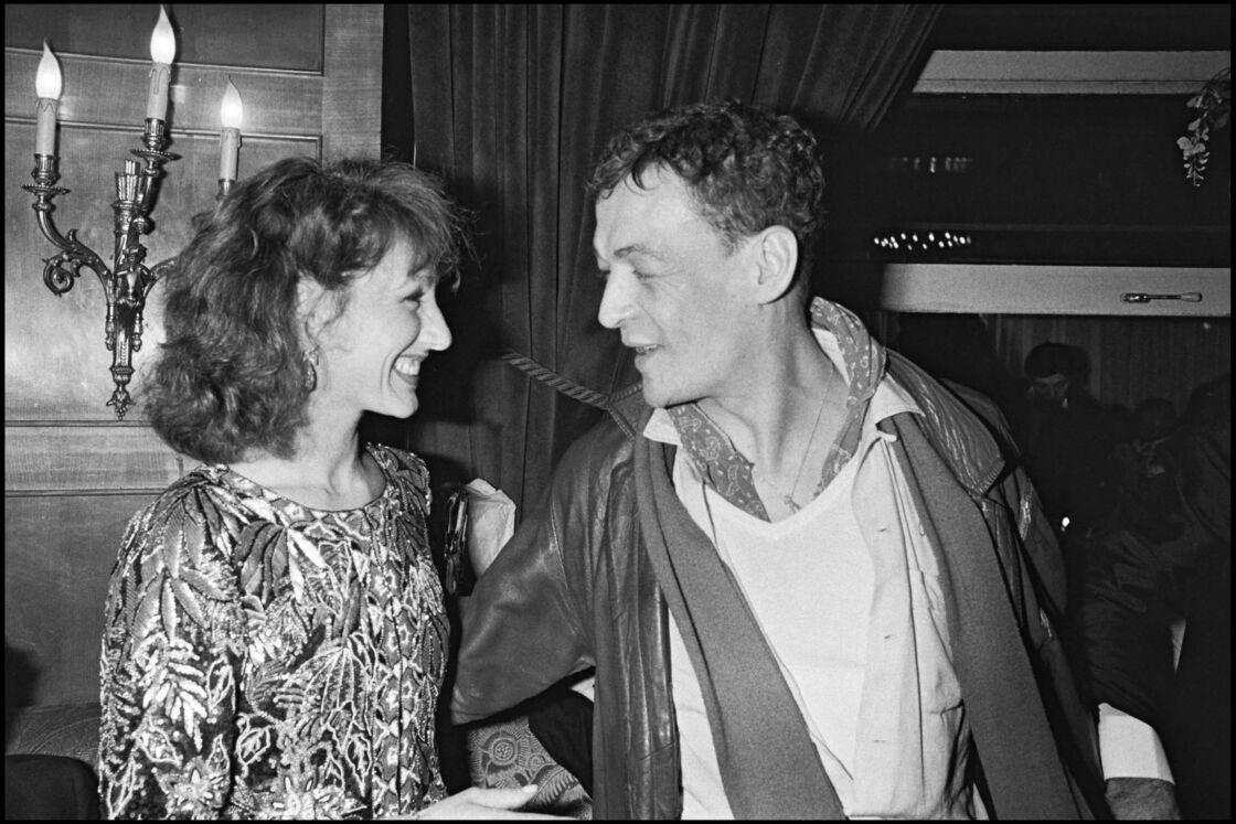 Nathalie Baye et Philippe Leotard à la soirée des César en 1983