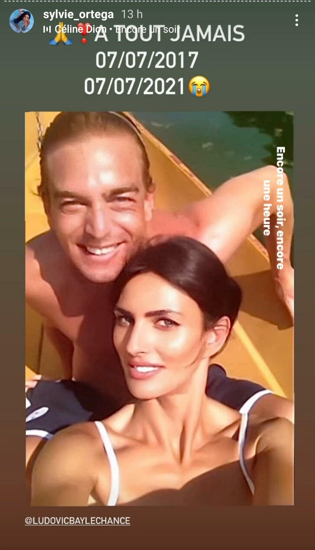 Ludovic Chancel et Sylvie Ortega, dans la story Instagram de cette dernière, partagée ce mercredi 7 juillet.