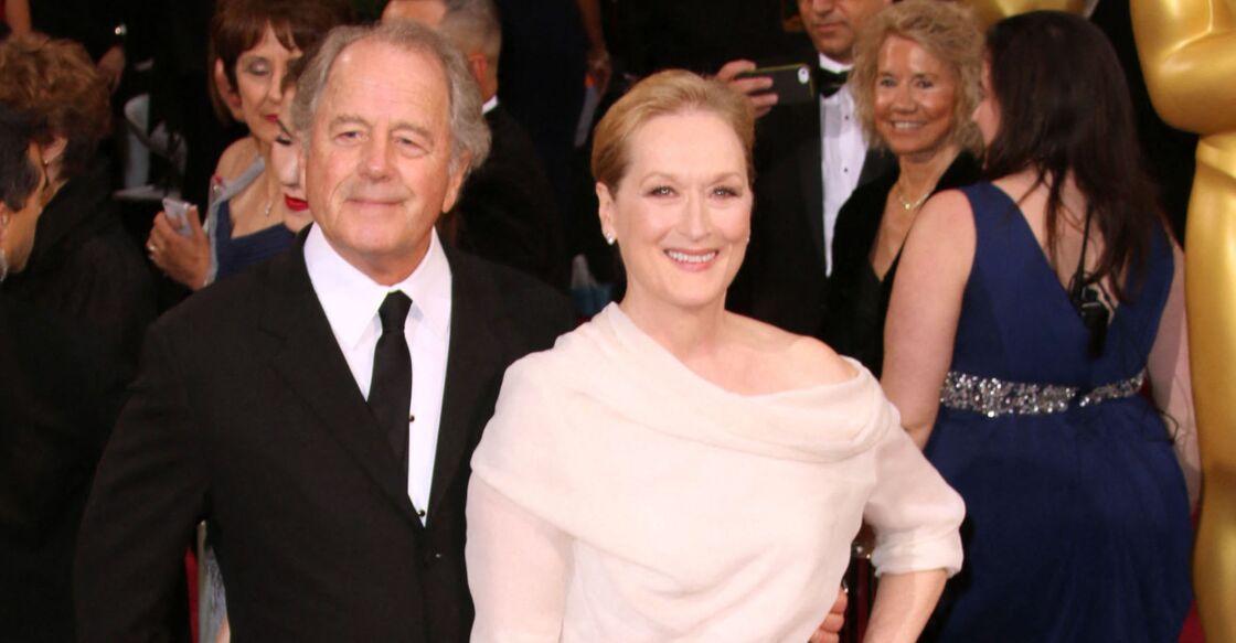 Meryl Streep et son mari Don Gummer - 86ème cérémonie des Oscars à Hollywood, le 2 mars 2014.