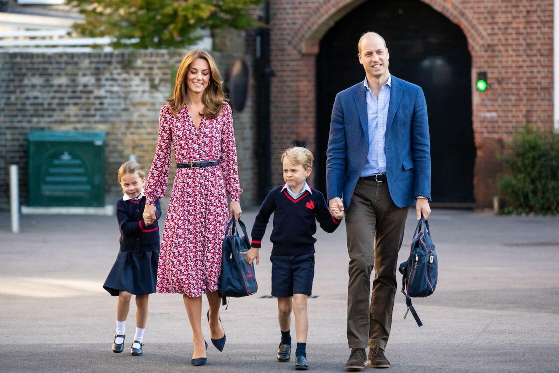 Le prince George avec ses parents pour sa rentrée scolaire en 2019