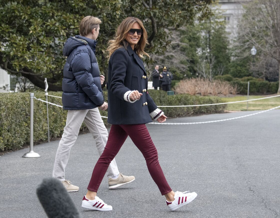 Melania Trump et son fils Barron, en 2019