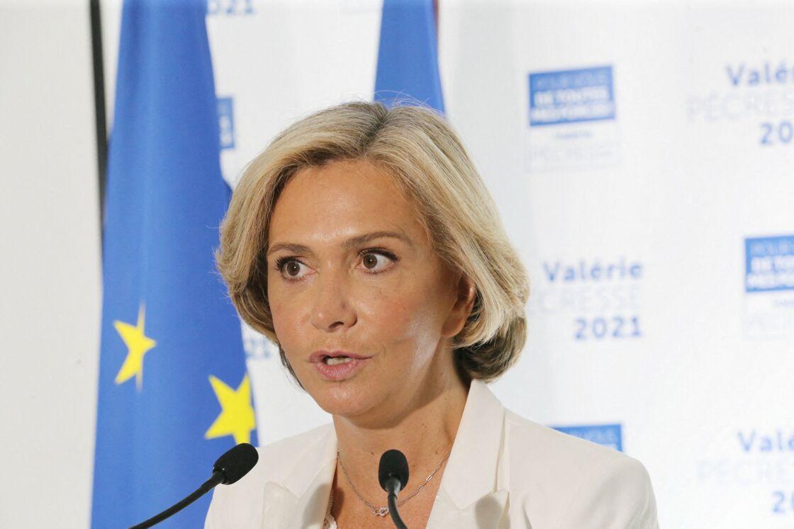 Valérie Pécresse lors de sa déclaration à la presse après les régionales le 27 juin 2021