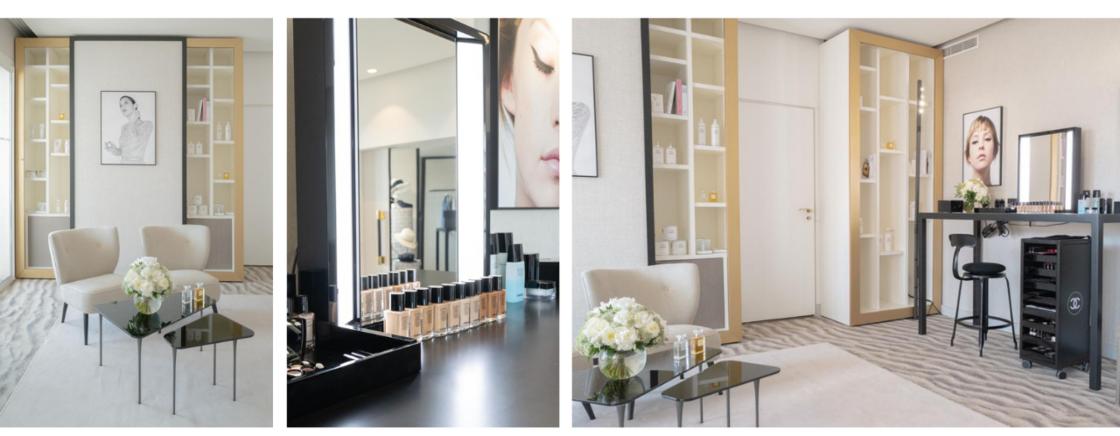 La suite Chanel mode et beauté, située au 5e étage de l'hôtel Barrière Le Majestic