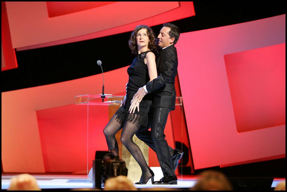 Valérie Lemercier et Gad Elmaleh à la 35e cérémonie des Césars en 2010, au théâtre du Châtelet