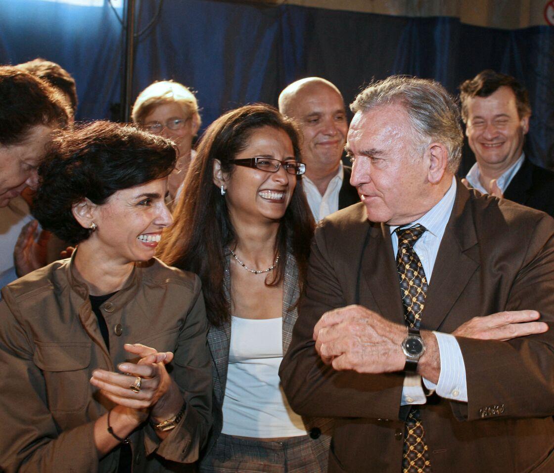 Dominique Perben, Rachida Dati et Jean-Michel Dubernard à Lyon, le 15 juin 2007.